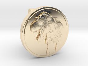 T-rex Cufflink in 14K Yellow Gold