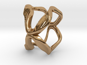 Mind generated ring - my idea of art in Polished Brass: Medium