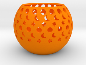 Candle Holder in Orange Processed Versatile Plastic