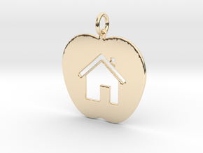 House Keychain and Pendant in 14k Gold Plated Brass