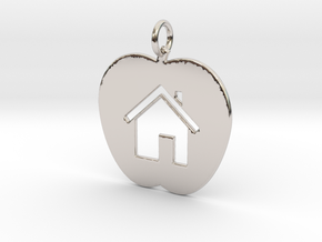 House Keychain and Pendant in Rhodium Plated Brass
