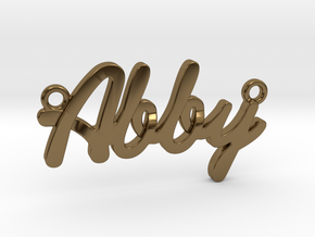 "Name Pendant - ""Abby"" in Polished Bronze"