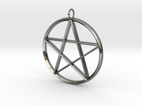 Star Necklace in Fine Detail Polished Silver