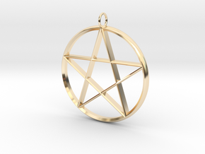 Star Necklace in 14K Yellow Gold