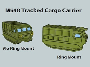 3mm M548 - Covered Wagon, No Ring-Mount (4 pcs) in White Natural Versatile Plastic