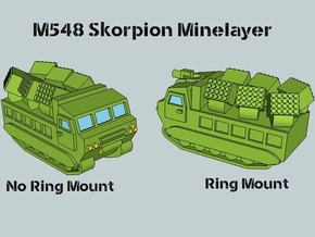 3mm M548 Skorpion Minelayer (4 pcs) in Smooth Fine Detail Plastic