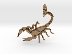 Scorpion Pendant in Natural Brass