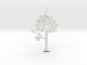 Tree No.2 Pendant in White Natural Versatile Plastic