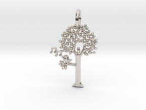 Tree No.2 Pendant in Platinum