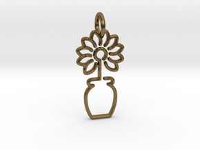 Tree No.3 Pendant in Natural Bronze