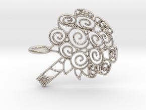 Bouquet Of Roses in Rhodium Plated Brass