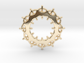 Circles No.2 Pendant in 14k Gold Plated Brass