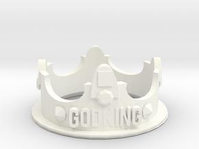 GodKING Crown - Pendant in White Processed Versatile Plastic