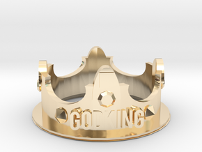GodKING Crown - Pendant in 14k Gold Plated Brass