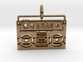 Radio Pendant in Raw Brass