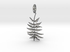 Leaves Pendant in Natural Silver