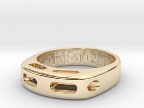 US9.125 Ring XX: Tritium in 14k Gold Plated Brass