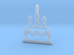 Birthday Cake in Smooth Fine Detail Plastic
