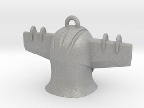 Jeeg Head Pendant2 in Aluminum