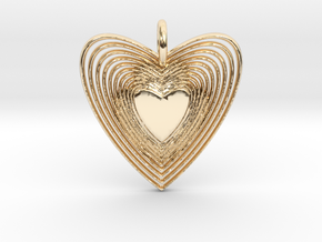Pendant of Heart (No.2) in 14K Yellow Gold