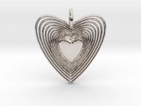 Pendant of Heart (No.2) in Platinum