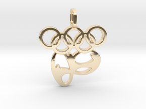 Rio 2016 Olympic Games in 14K Yellow Gold