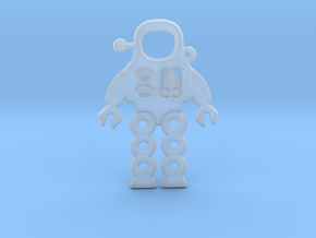 Mars Robot Pendant in Smooth Fine Detail Plastic