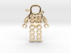 Mars Robot Pendant in 14K Yellow Gold