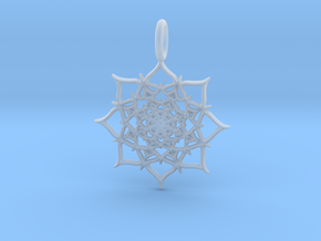 Infinity Pendant in Smooth Fine Detail Plastic