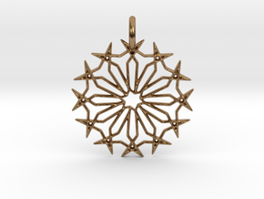 Star No.2 Pendant in Raw Brass