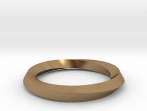 Mobius band in Natural Brass