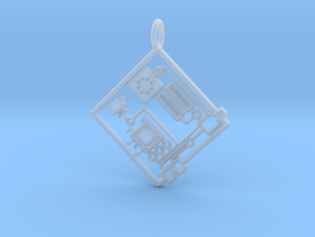 Circuit 1.0 Pendant in Smooth Fine Detail Plastic