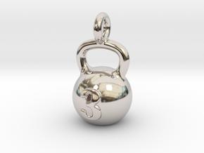 Kettlebell Tiny Tiny Little Earring in Platinum