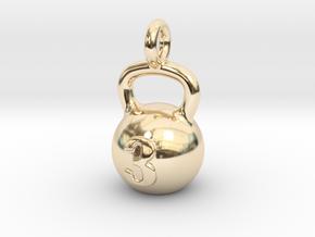 Kettlebell Tiny Tiny Little Earring in 14k Gold Plated Brass