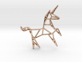 Unicorn Pendant in 14k Rose Gold