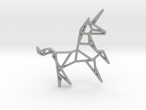 Unicorn Pendant in Aluminum