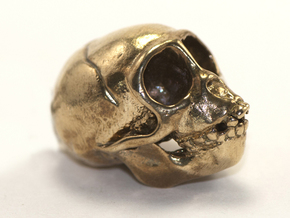 Spider Monkey Skull 43mm in Natural Bronze