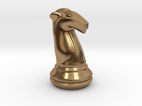 Chess Set Knight in Natural Brass