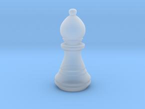 Chess Set Bishop in Smooth Fine Detail Plastic