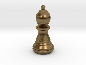 Chess Set Bishop in Natural Bronze