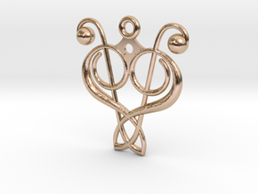 N. 1 in 14k Rose Gold Plated Brass