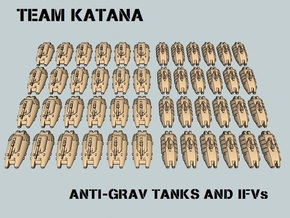 """Team Katana"" 3mm Anti-Grav Tanks & IFVs (48 pcs) in White Strong & Flexible"