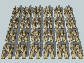 """Team Scimitar"" 3mm Sci-Fi Tanks & IFVs (48pcs) in White Strong & Flexible"
