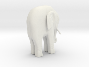 Elephant Statue in White Strong & Flexible