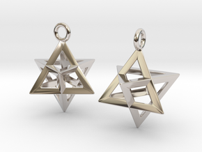 Merkaba 15 Pair in Platinum