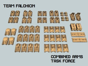 """""""Team Falchion"""" 3mm Tracked Task Force (56pcs) in Smooth Fine Detail Plastic"""