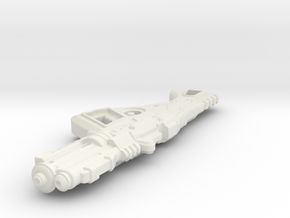 1:6th Scale 'Falcor' Assault Rifle 100mm Length in White Natural Versatile Plastic