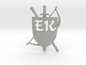 The Emerald Knights Badge 1b in Raw Aluminum