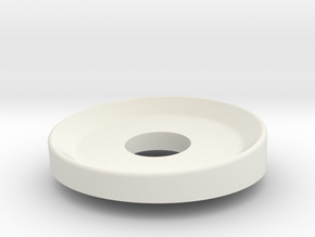 Door Washer 1 in White Natural Versatile Plastic