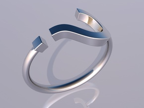 Question Mark Ring - Size US 6 in Polished Silver